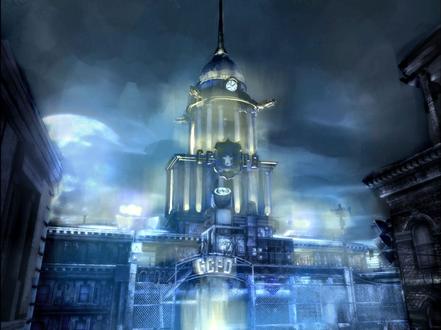 Обои Здание Полицейского Департамента города Готэма, из игры Batman: Arkham City (GCPO)