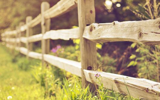 Обои Деревянный забор