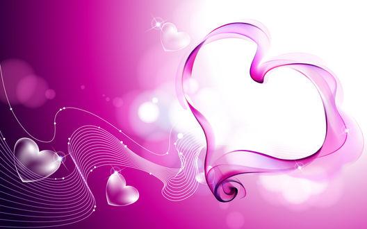 Обои Абстракция в виде сердец