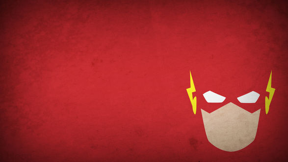 Обои Лицо супергероя Flash / Флэш