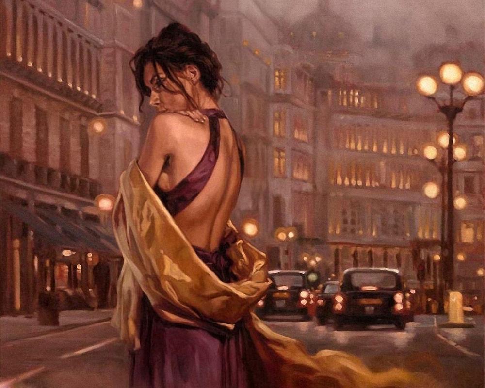 Девушки в вечернем платье обои