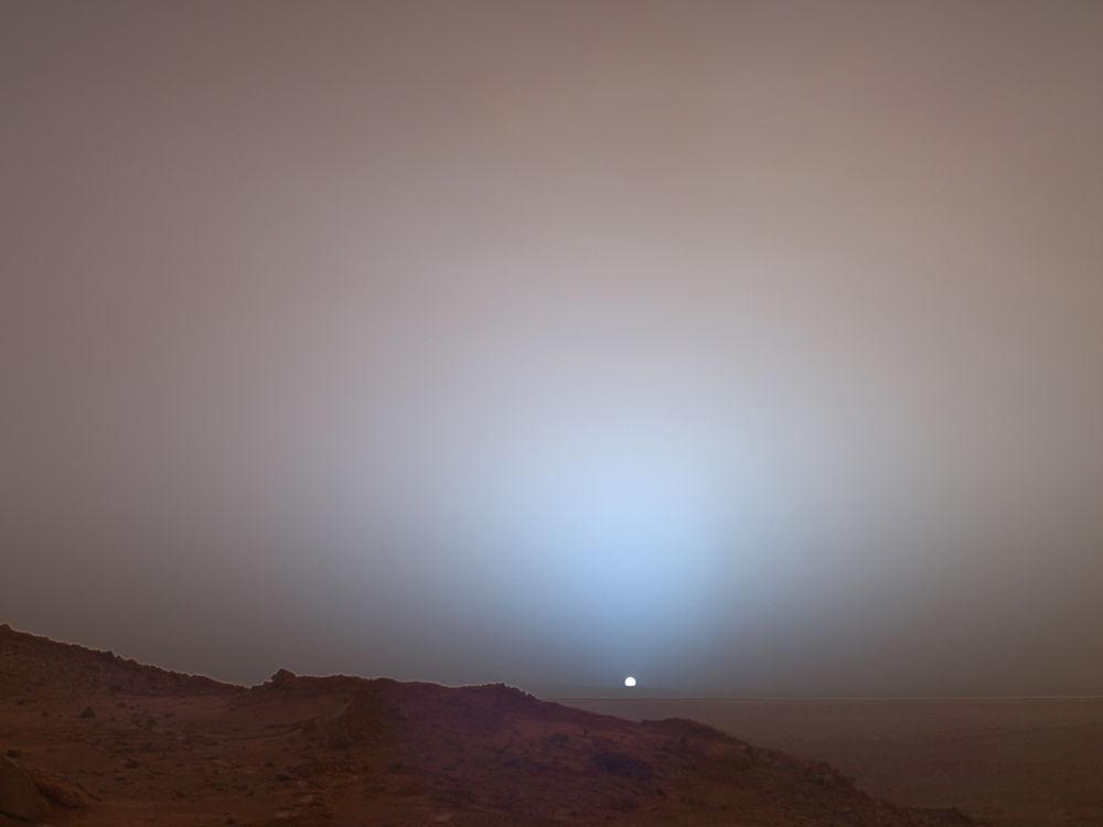 рассвет на марсе обои