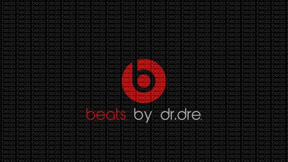 Обои Бренд наушников и динамиков, созданный хип-хоп / рэп музыкантом Dr. Dre / Доктором Дри ( Beats by dr.dre / Удары по др.Дри )