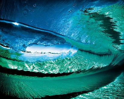 Обои Кристально чистая морская волна