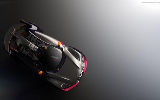 Обои Модель спортивной машины на темном фоне