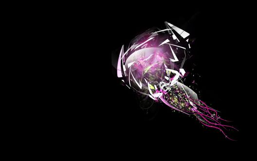 Обои Абстракция - фиолетовая медуза