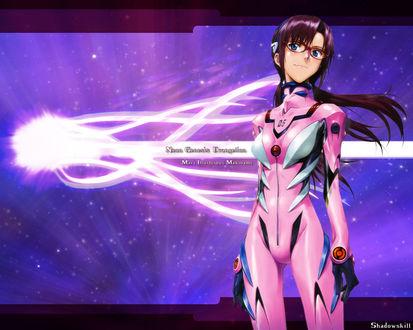 Обои Мари / Mari из аниме Евангелион Нового Поколения / Neon Genesis Evangelion