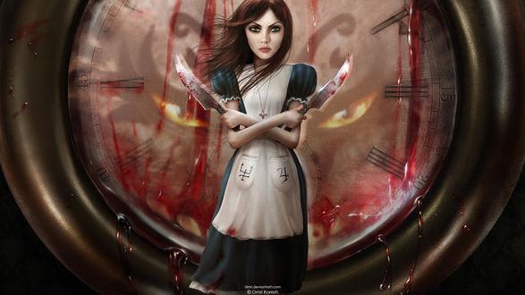 Обои Иллюстрация к компьютерной игре Алиса / Алиса: Безумие Возвращается / Madness Returns