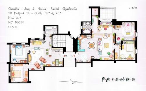 Обои Схема расположения комнат