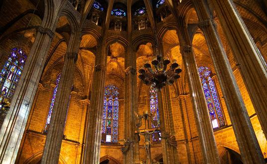 Обои Собор Святого Креста и Святой Евлалии в Барселоне / Catedral Basilica de Barcelona, Испания