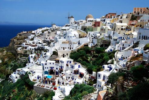 Обои Город Санторини / Santorini, Греция / Greece