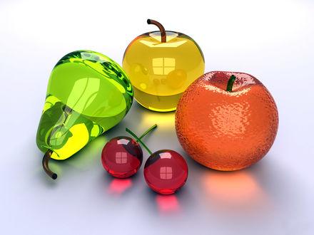 Обои Выполненные из стекла фрукты и ягоды