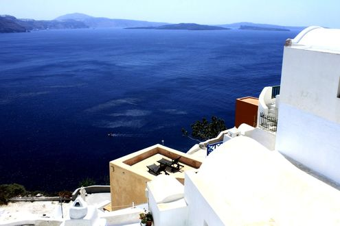 Обои Остров Сантарини / Santorini, Греция / Greece
