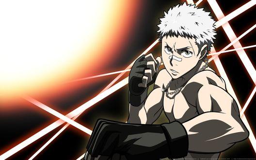 Обои Sasagawa Ryohei / Сасагава Рёхэй из аниме Учитель-мафиози Реборн! / Katekyo Hitman Reborn!