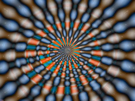 Обои Разноцветная оптическая иллюзия
