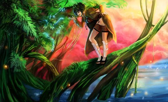 Обои Mitarashi Anko / Анко Митараши из аниме Наруто / Naruto, art by RikaMello