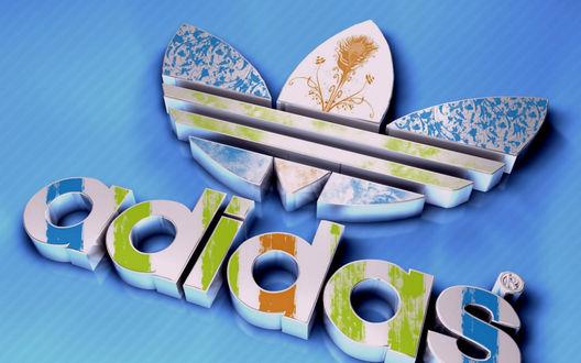 Обои Логотип фирмы Адидас / Adidas, производящей спортивную одежду