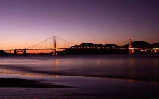 Обои Мост Золотые Ворота / Golden Gate Bridge в Сан-Франциско / San Francisco, штат Калифорния / California. США / USA