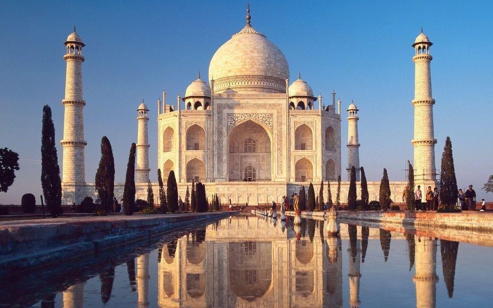 Обои для рабочего стола Тадж Махал / Taj Mahal - чудо света в Индии / India