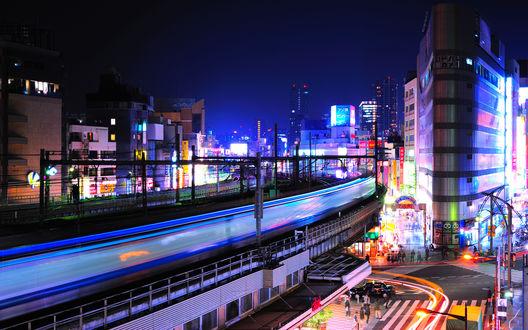 Обои Ночь в Токио, Япония / Tokio, Japan