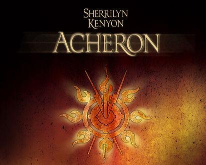 Обои Стилизованный знак солнца с тремя молниями из романа Ашерон / Acheron (Шеррилин Кеньон / Sherrilyn Kenyon, Ашерон / Acheron )