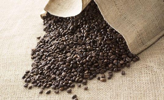 Обои Мешок с кофейными зернами
