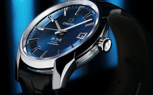 Обои Мужские наручные часы знаменитой швейцарской фирмы Omega / Омега