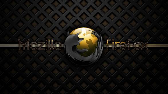Обои логотип браузера Мазила Фаерфокс / Mazilla Firefox