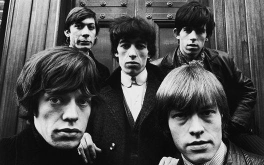 Обои Rolling Stones, легендарная группа на историческом фото