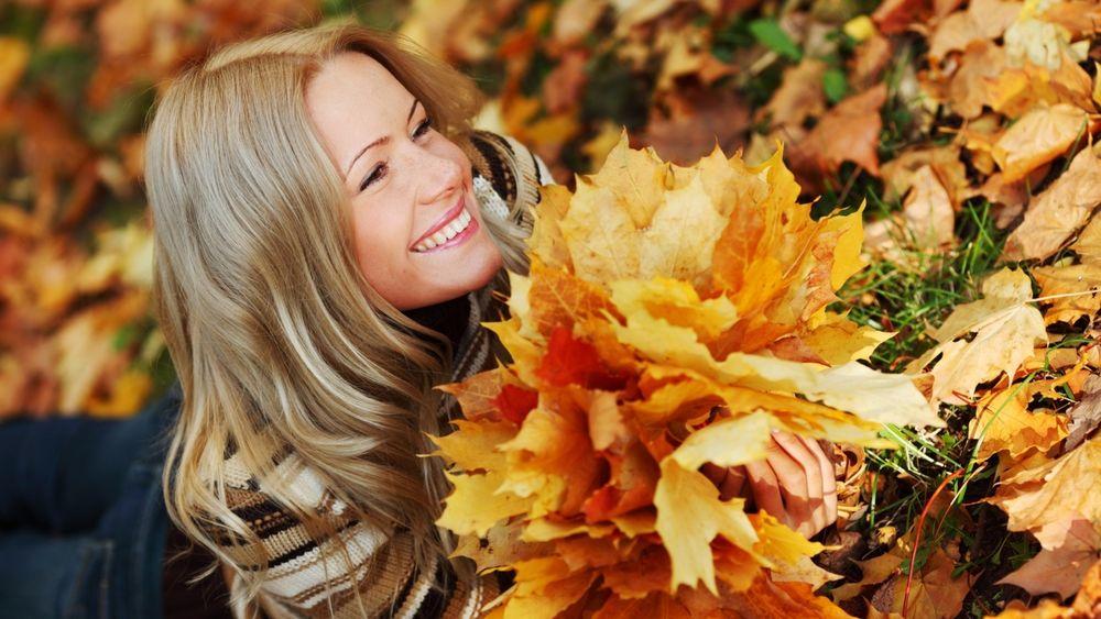 Картинки этюдов из осенних листьев
