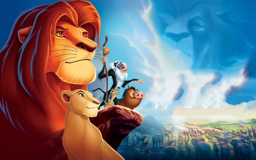 Обои Главные герои мультфильма Король Лев / The Lion King