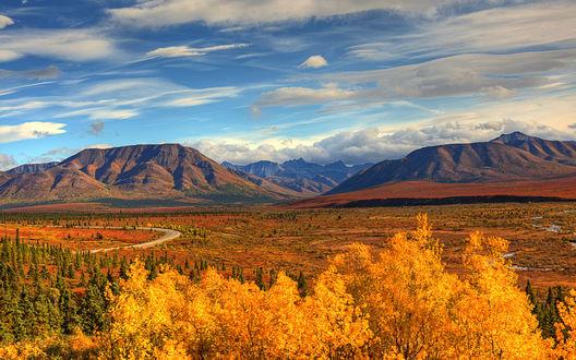 Обои Осень на Аляске, США / Alaska, USA