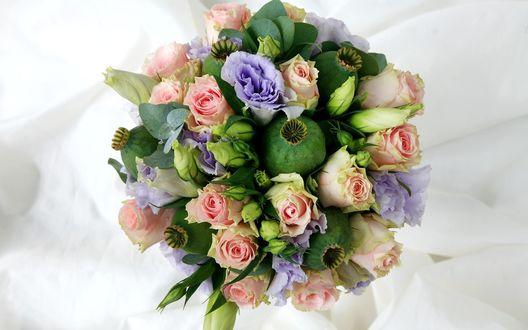 Обои Букет с розами