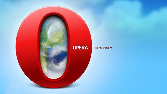 Обои Логотип браузера Опера / Opera (It's my world)