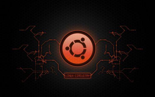 Обои Linux / Линукс, реклама операционной системы (Linux circuitry)