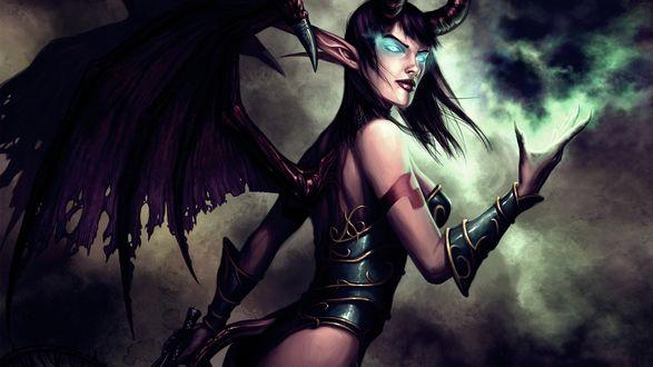 Обои Суккуб / Succubus из игры World of Warcraft