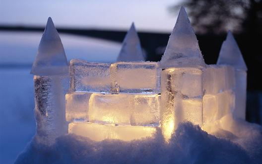 Обои Ледяной замок, Швеция / Sweden