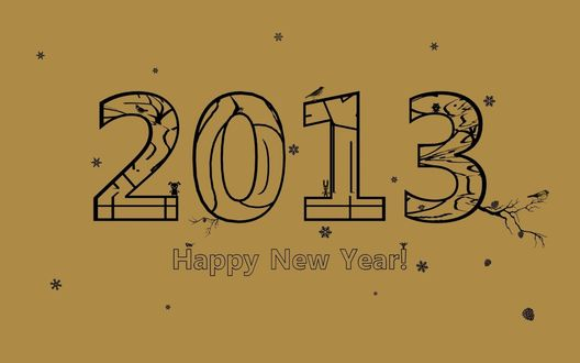 Обои 2013 happy new year / счастливого нового года