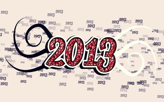 Обои 2013 на фоне цифр 2013