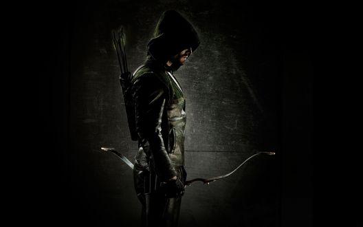 Обои Зеленая стрела / green arrow, которого играет Оliver Queen / Оливер Квин, телесериал Стрела / Arrow