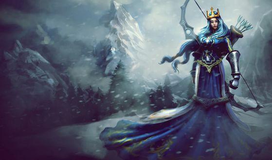 Обои Аше / Ache из игры Лига Легенд / League of  Legends
