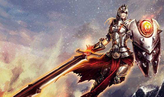 Обои Леона / Leona из игры Лига Легенд / League of Legends