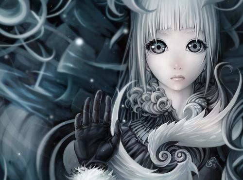 аниме девушки с пепельными волосами: