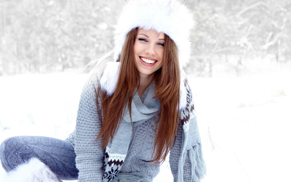 Девушки на фоне снега красивые фото фото 643-51
