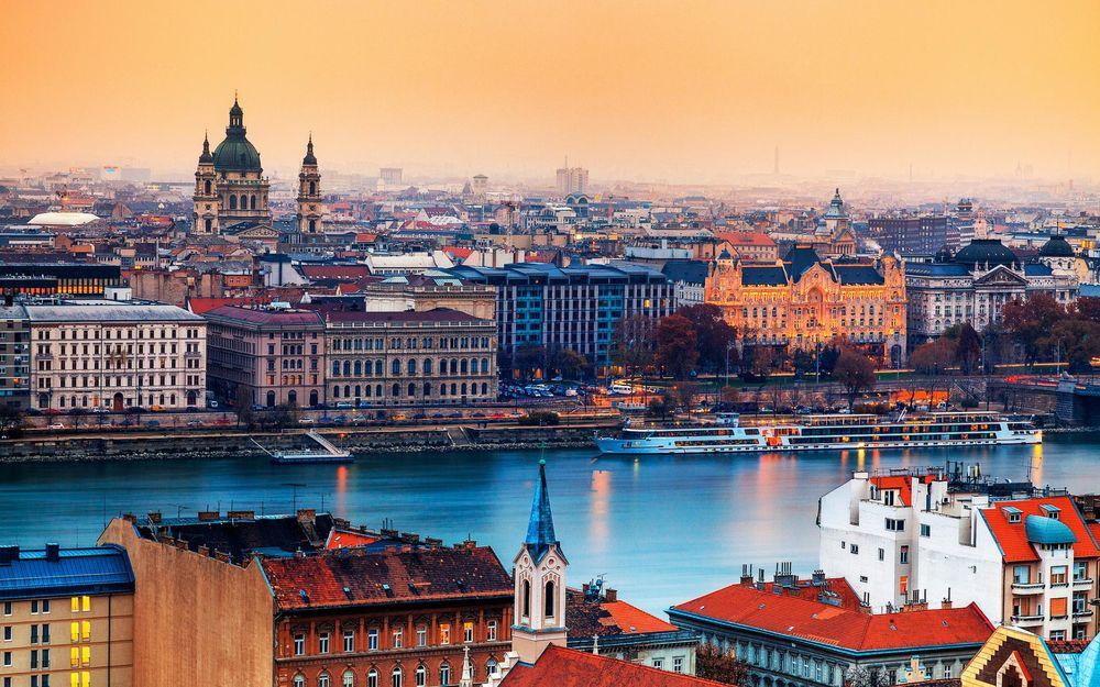 Обои Панорама на Будапешт / Budapest, Венгрия / Hungary на рабочий стол