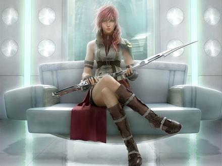 Обои Молния / Lightning главная героиня игры Final Fantasy XIII