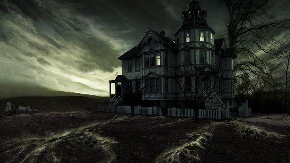 Обои Готический дом