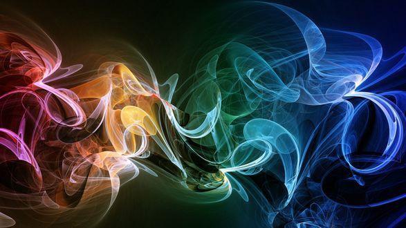 Обои Разноцветный дым