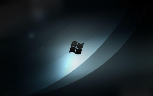 Обои Серые обои с Windows