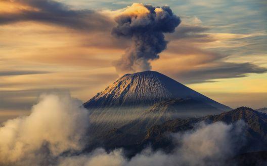 Обои Вулкан Семеру / Semeru, Индонезия / Indonesia
